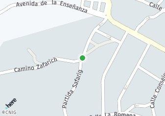 código postal de la provincia de Zafarich Partida en Provincia De Alicante